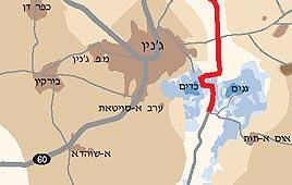 מפה מדיניות הכבישים של צה