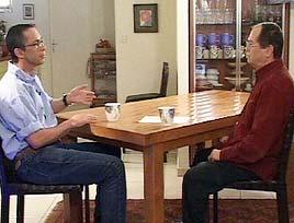 אמנון אברמוביץ' וגלעד שרון  (צילום: חדשות ערוץ 2)
