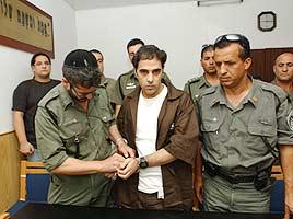 יגאל עמיר בדיון בבית המשפט (צילום - דלית שחם)
