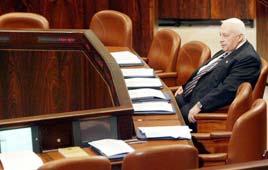 אריאל שרון ראש הממשלה בכנסת