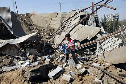 תקיפה ברצועה בישראל לא רצו לפגוע בתיאום עם המצרים. (צילום: AFP)
