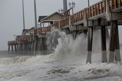 ההוריקן מתקרב לצפון קרוליינה (צילום: AFP)