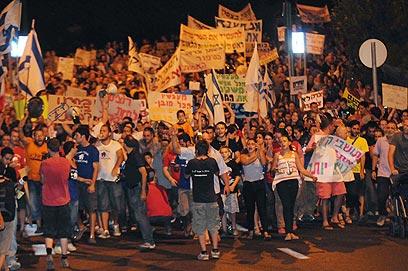 קריית שמונה. מחאה צפונית (צילום: אביהו שפירא)