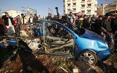 המכונית שבתוכה ישבו אל-קייסי ואל-חנני (רויטרס)