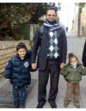Rabbi Jonathan Sandler and his 2 sons Aryeh and Gavriel HY'D
