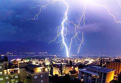 3 ברקים במקביל - הילוך איטי- מדהים !