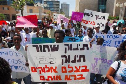 Картинки по запросу אתיופים נגד גזענות