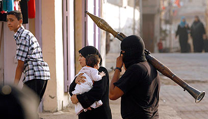 פעיל הג'יהאד האיסלאמי בעזה (צילום: AP)