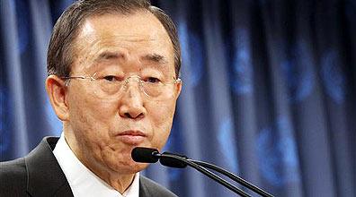 """מזכ""""ל האו""""ם באן קאי מון (צילום ארכיון: AP)"""