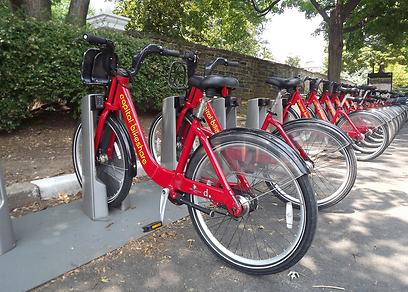 פרויקט השכרת אופניים בוושינגטון. הניו-יורקים לא משוכנעים (צילום: אבי גנאור)