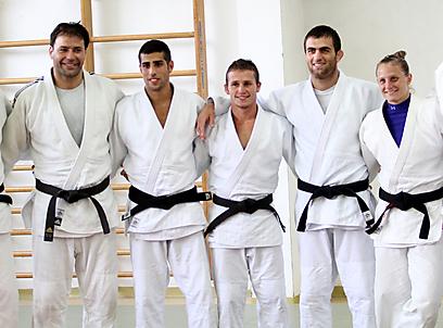 נבחרת הג'ודו. תקרית דיפלומטית עוד לפני פתיחת האולימפיאדה (צילום: אורן אהרוני)