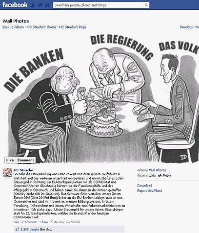 הקריקטורה האנטישמית שפרסם הפוליטיקאי האוסטרי