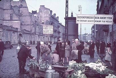 גטו ורשה, ינואר 1940 (צילום: Gettyimages)