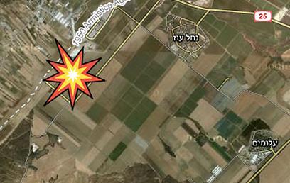 מפת אזור התקרית (צילום: Google Maps)