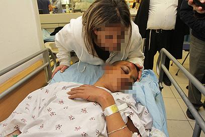 הנער שהותקף ונפצע בירושלים  (צילום: גיל יוחנן)