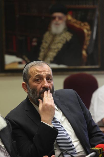 Shas leader Aryeh Deri (Gil Yochanan) (Photo: Gil Yochanan)