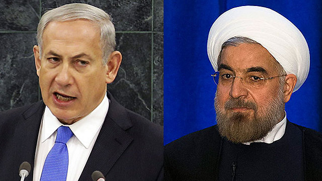 Netanyahu vs. Rohani (Photo: AP)