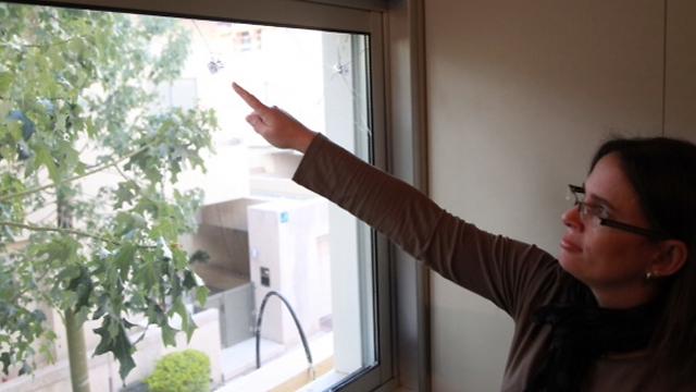 Bullet holes in the AKIM center's window (Photo: Motti Kimchi) (Photo: Motti Kimchi)