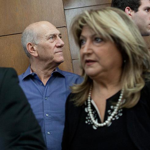 Ehud Olmert and Shula Zaken - Holyland verdict (Photo: Tomer Applebaum) (Photo: Tomer Applebaum)