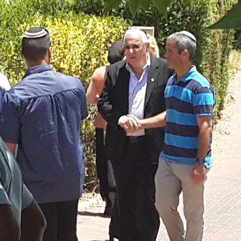 President-elect Reuven Rivlin in Talmon (Photo: Gilad Morag) (Photo: Gilad Morag)