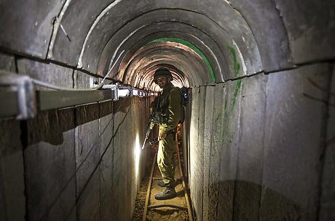 IDF soldiers inside a Gaza tunnel (Photo: EPA) (Photo: EPA)