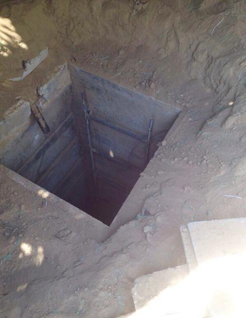Entrance to a terror tunnel (Photo: IDF Spokesperson's Unit)