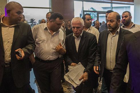 Palestinian delegation to Cairo talks (Photo: Reuters) (Photo: Reuters)