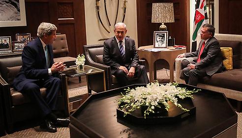 הפגישה בעמאן (צילום: EPA)