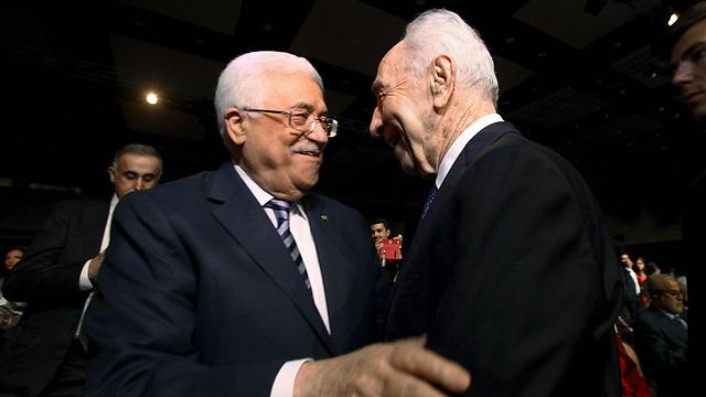 """אבו מאזן ספד לפרס: """"היה שותף לשלום"""""""