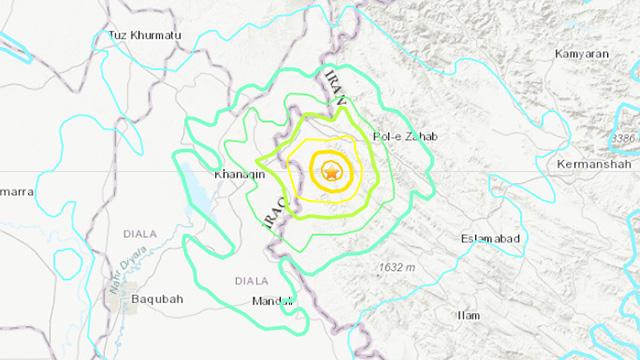רעידת אדמה בישראל: רעידת אדמה בגבול איראן-עיראק