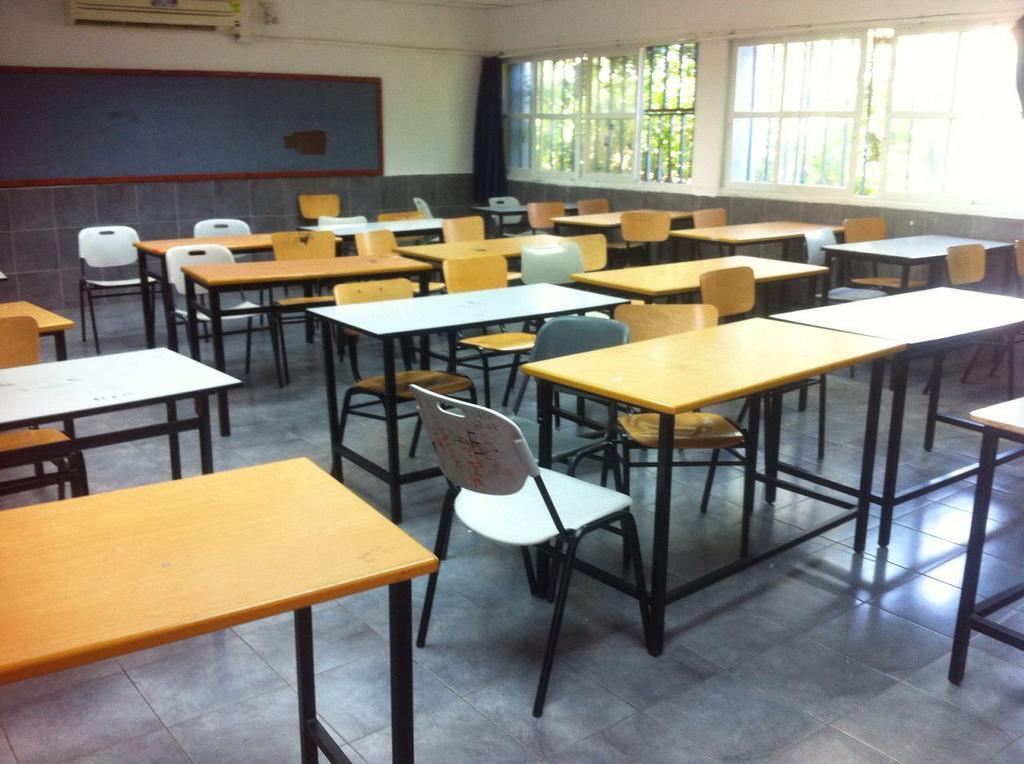 An empty classroom in Ashdod  ()