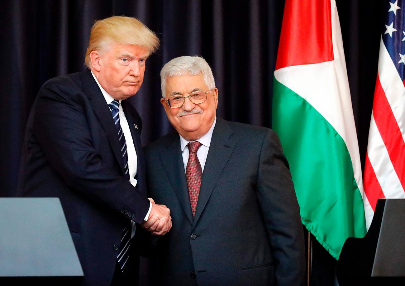 U.S. President Donald Trump meeting with his Palestinian counterpart Mahmoud Abbas  (Photo: AFP)