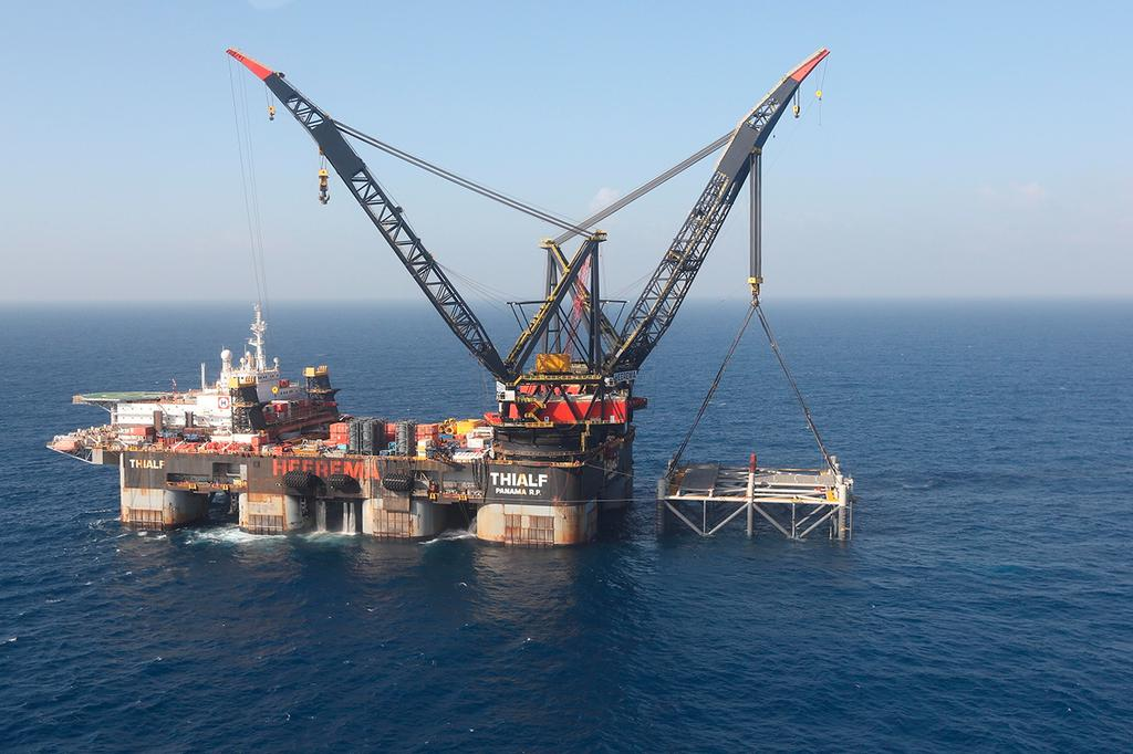 Israel's Leviathan gas rig  (Photo: AP)