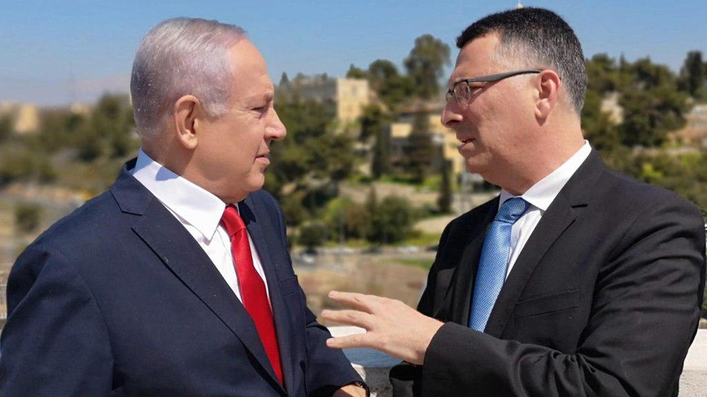 Prime Minister Benjamin Netanyahu and Likud MK Gideon Sa'ar   (Photo: Sharon Revivo)