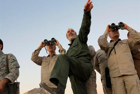 Iranian Chief of Staff Mohammad Bakri on a tour of the Syrian city of Aleppo last year  ()