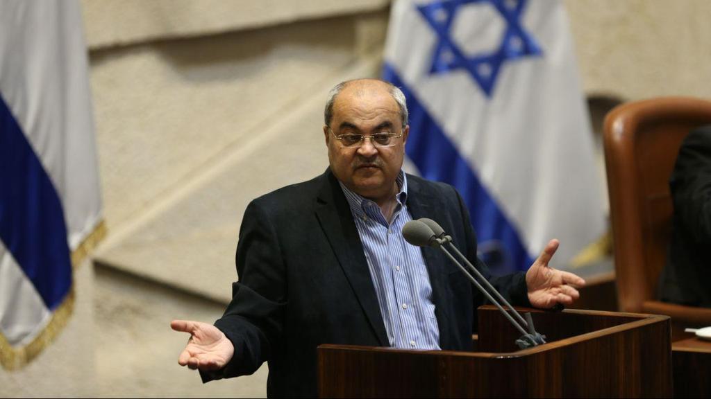 Joint List MK Ahmad Tibi in the Knesset  (Photo: Alex Kolomoisky)