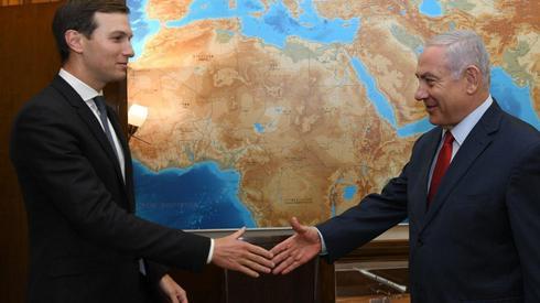 Benjamin Netanyahu and Jared Kushner meeting in Jerusalem in July 2019   ()
