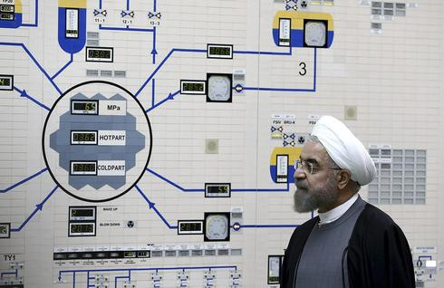 Iranian President Hassan Rouhani at one of the country's nuclear plants  (Photo: AP)