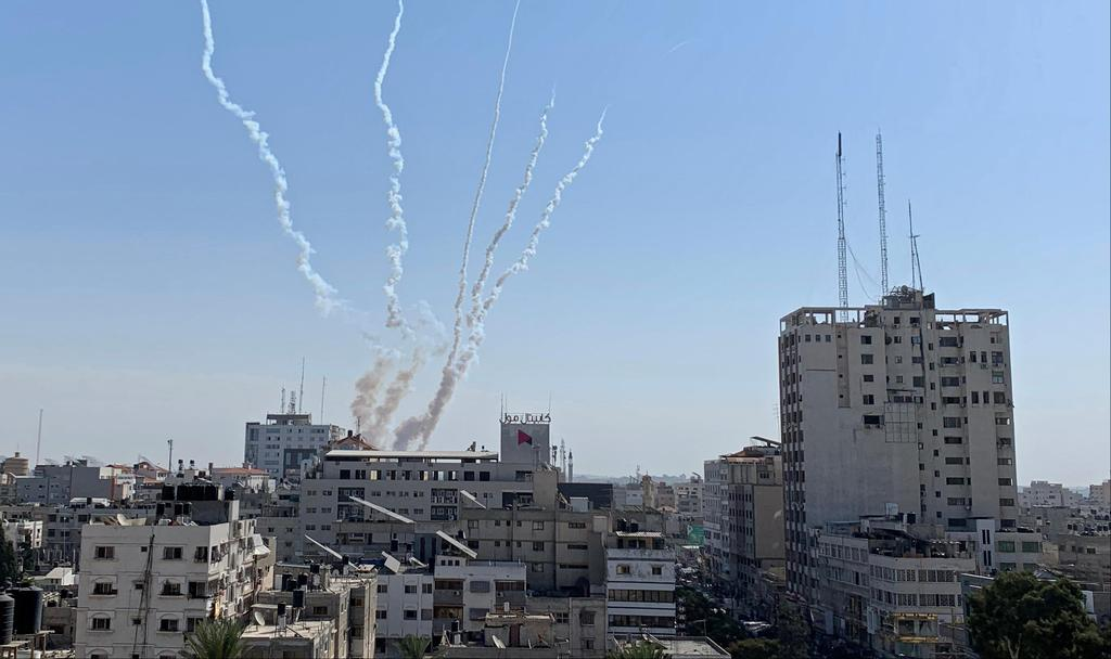Rockets being fired from Gaza into Israel  ()