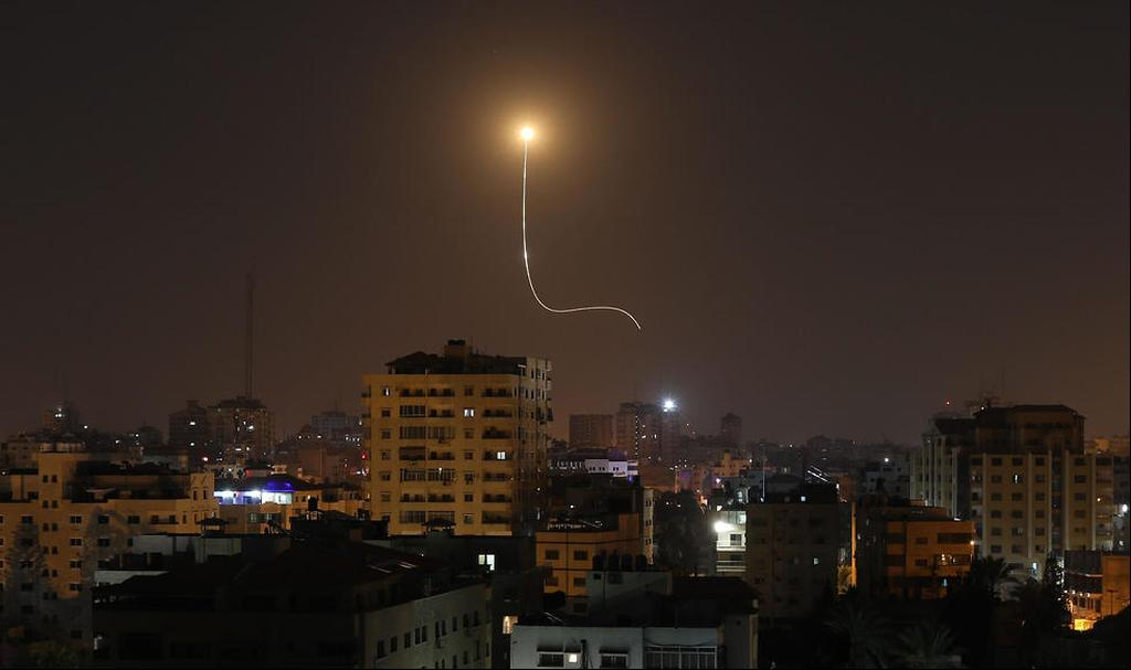 Rocket launch from the Gaza Strip (Photo: AFP)