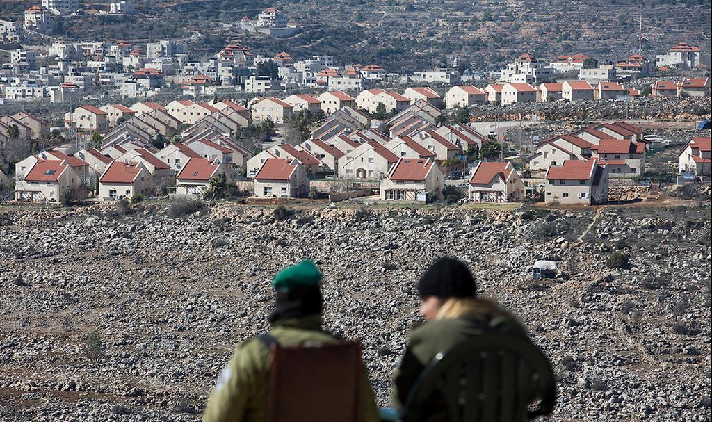 The West Bank settlement of Ofra  (צילום: EPA)