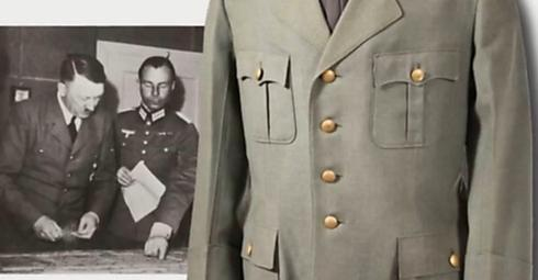 A Nazi jacket for sale in the auction (Photo: Ynet)
