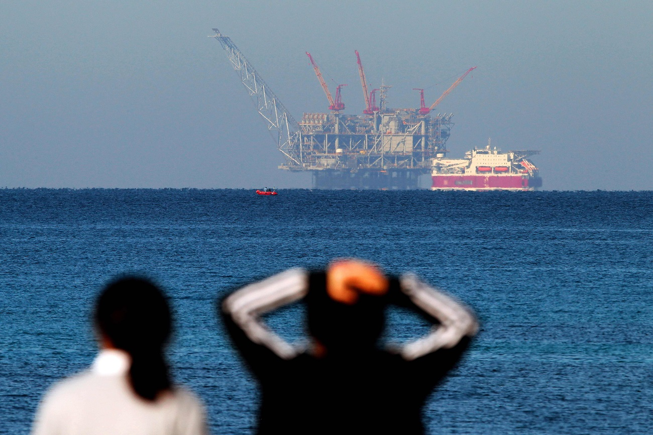 The Leviathan gas rig  (Photo: AFP)