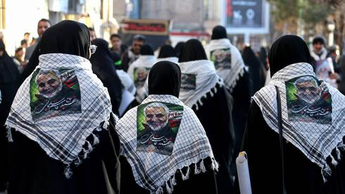 The funeral procession for slain general Qassem Soleimani in his hometown of Kerman  (Photo: AFP)