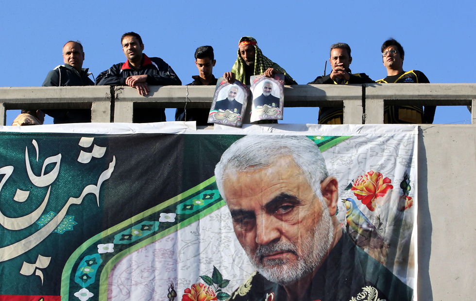The funeral for Qassem Soleimani in his hometown of Kerman  (Photo: AFP)