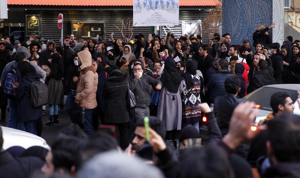 Protesters in Tehran  (Photo: EPA)