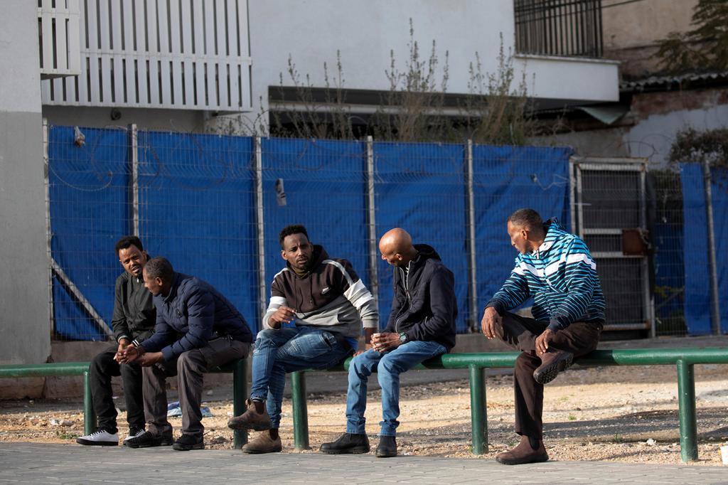 Illustrative: African asylum seekers in South Tel Aviv  ()