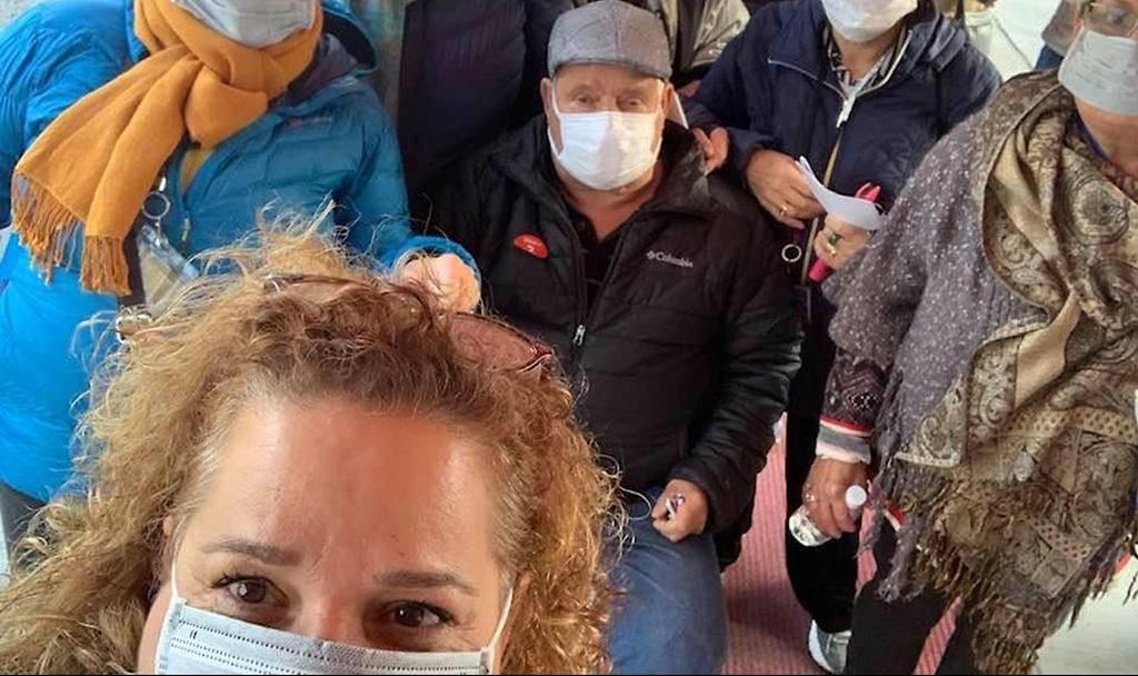 Israelis aboard the virus-hit ship  ()