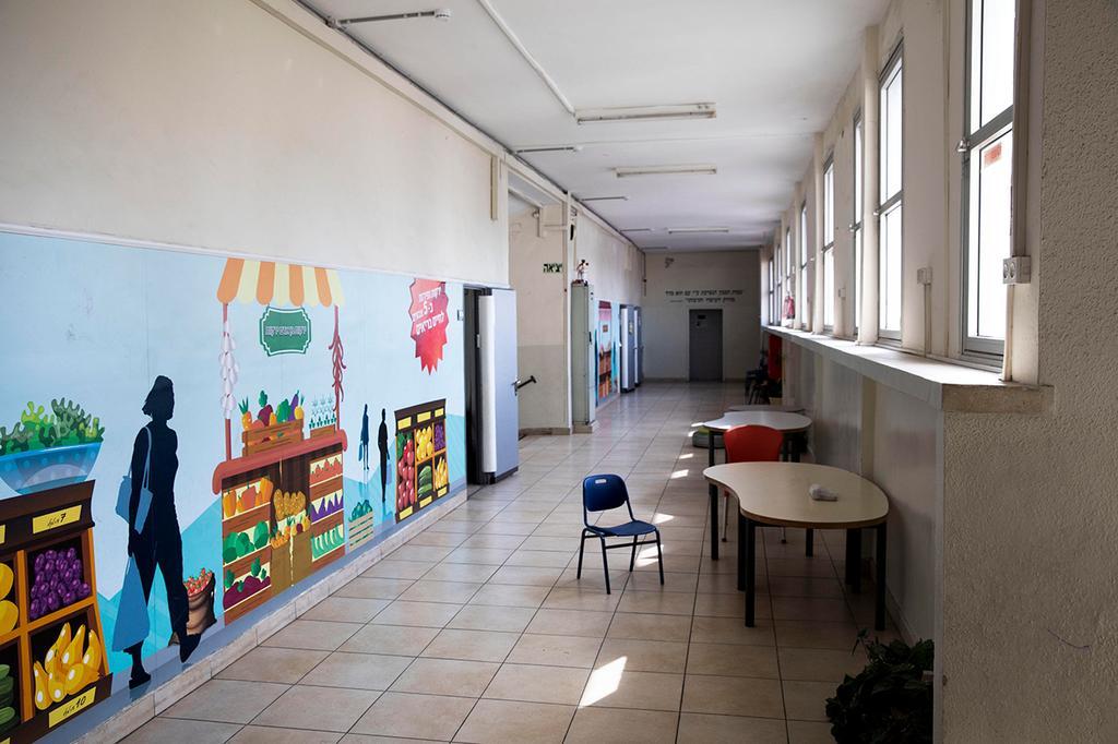 An empty elementary school in Ramat Gan  ()