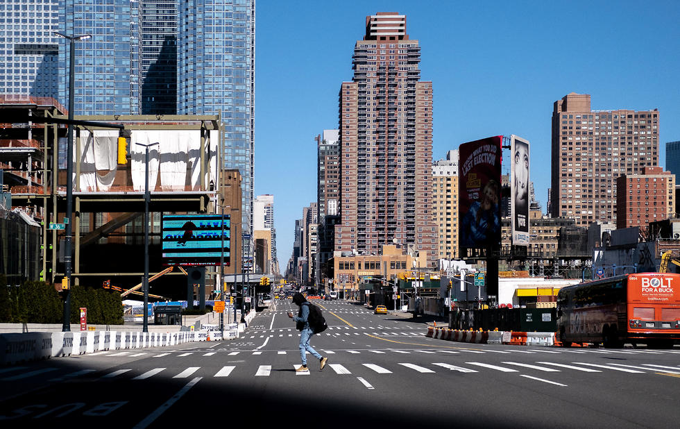 רחובות ריקים במנהטן בעקבות נגיף הקורונה (צילום: רויטרס)